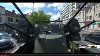 Dans les rues de Troyes, un passionné de chars créé la surprise avec Bruno Tabare