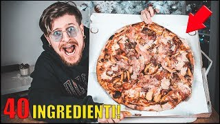 COSA SUCCEDE SE ORDINI UNA PIZZA A DOMICILIO CON 40 INGREDIENTI! thumbnail
