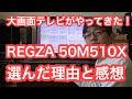 REGZA50V510X 4K大画面テレビがやってきた!選んだ理由と感想。
