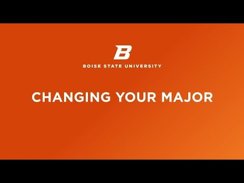 Boise State Online: How to Change Your Major