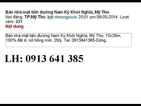 Nhà đất Tiền Giang 23.5.2014 ( thu âm quảng cáo voices.vn )