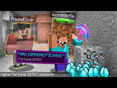 I Gave HIM A Pickaxe That Gives You FREE Diamonds In Minecraft..