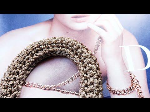 Универсальная ручка для сумок и рюкзаков.❤ Как связать крючком. ❤ Crochet Pattern. Strickmuster.