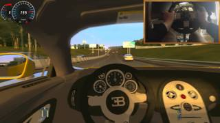 Repeat youtube video █▓▒░ Bugatti Veyron + G27 BRUTAL Acceleration ! City Car Driving
