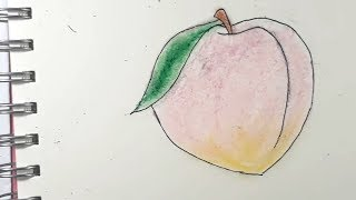 how to draw peaches
