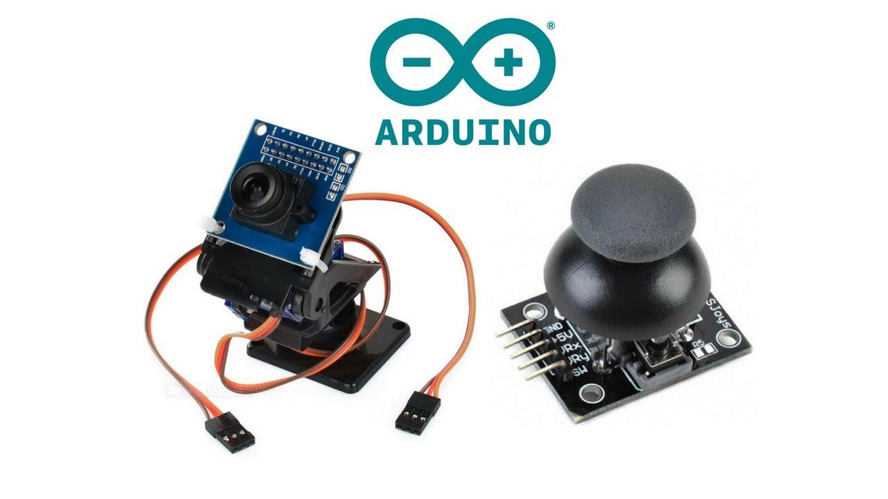 Control Dual Axis FPV Camera Cradle with Joystick Module - Arduino