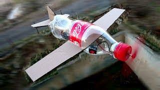 Kola Şişesinden ve Kartondan Pervaneli Uçak Nasıl Yapılır - Çok Basit