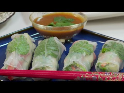 Unbundled Spring Rolls with Raspberry Ginger root Sauce