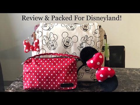 Petunia Pickle Bottom Boxy Backpack Sketchbook Mickey & Minnie Review & Packing! 2018