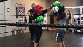 My first sparring