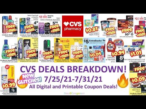 CVS Deals Breakdown 7/25/21-7/31/21! Glitches! All Digital and Printable Coupon Deals!
