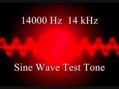 14000 Hz 14 kHz Sine wave test tone