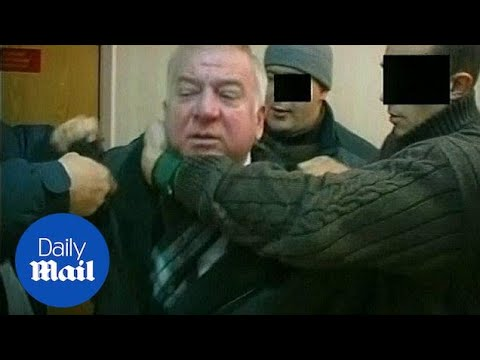 Archive footage shows former Russian spy being arrested - Daily Mail
