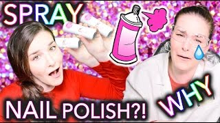 Spray Paint Nail Polish?! WHY just why(WATCH ME SPRAY NAIL POLISH ALL OVER MY NAILS AND MY ROOM! WHAT A GREAT IDEA! ♡ Subscribe to never miss new nail art tutorials!, 2016-04-03T14:46:07.000Z)