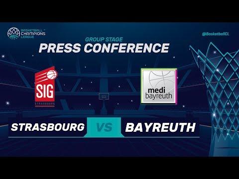 SIG Strasbourg v medi Bayreuth - Press Conference - Basketball Champions League 2017-18