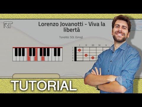 TUTORIAL! Lorenzo Jovanotti - Viva la libertà (Piano e Chitarra - Accordi)