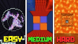 EASY, MEDIUM, HARD!! - MINECRAFT DROPPER