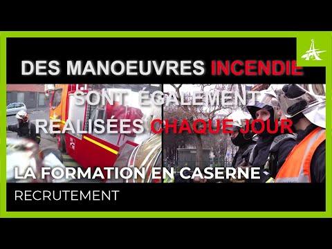 LA FORMATION DES POMPIERS DE PARIS EN CASERNE