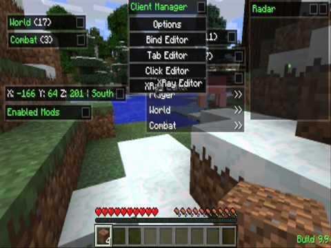 Скачать Nodus чит клиент Minecraft [1.7.9]