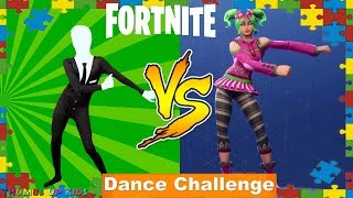 FORTNITE DANCE BATTLE IN COSTUME In Real Life Slenderman Costume