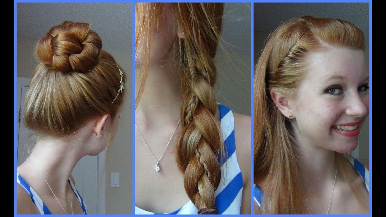 3 simple, quick, and easy back to school hairstyles! - youtube