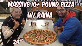 10 Pound Beast Pizza Challenge w/ Raina at Graziano's in Corona | Freak Eating