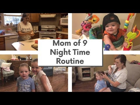 MOM Of 9 NIGHT Time ROUTINE    Large Family Night Time Routine
