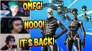 Streamers React To *NEW* Skull Trooper & Skull Ranger LEGENDARY Skins