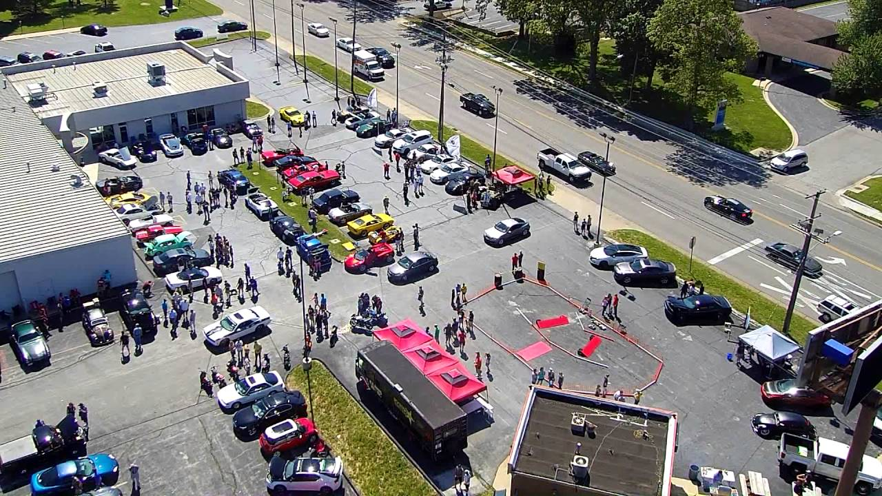 Coffee & Cars Springfield, MO. May 2016 Aerial Full HD View 120 ...
