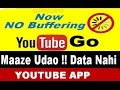 Youtube Go App !!  with Tag line Mazze Udao Data Nahi !! Just for India