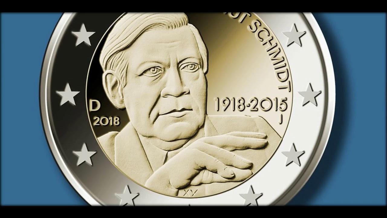 Neue Zwei Euro Münze Zigaretten Kaufen Mit Helmut Schmidt Youtube