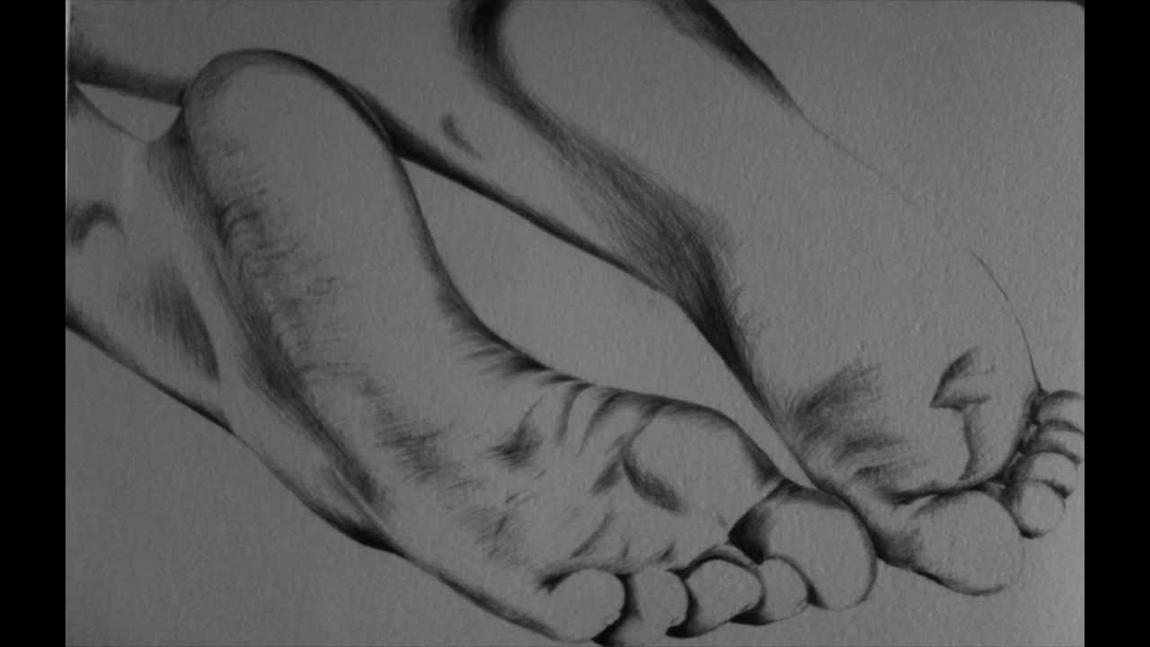 It is an image of Mesmerizing Drawing On Feet