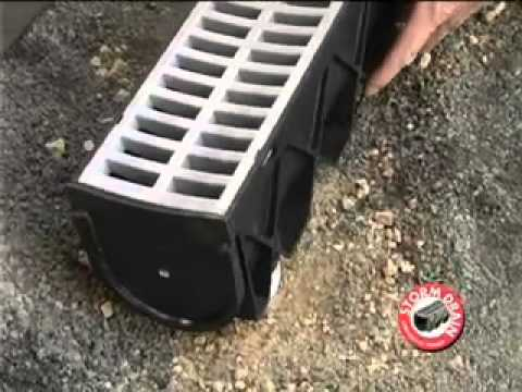 Stormdrain installation youtube for Simple drainage system