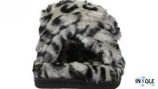 Vionic Grey Leopard Relax Luxe Slippers @TheInsoleStore.com