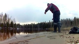 Невдала рибалка на р. Улу-Юо. Закидушки. Сніг на початку травня