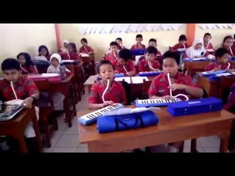 Sdn 1 Klaten kelas 5 indonesia raya pianika