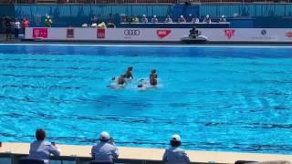 Выступление наших синхронисток на чемпионате мира приводным видам спорта