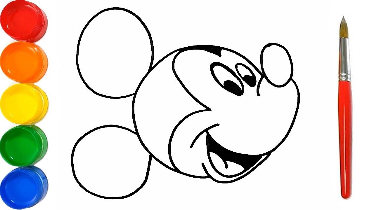 Como Dibujar y Colorear a Mickey Mouse y Un Diamante - Dibujos Para Niños Paso a Paso/  FunKeep Art