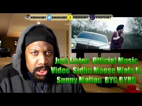 Just ListenOfficial Music VideoSidhu Moose Wala ft MaltonBYG BYRDHumble Music REACTION