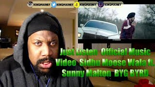 Just Listen Official Music Audio Sidhu Moose Wala Ft Sunny Malton Byg Byrd Humble Music Reaction