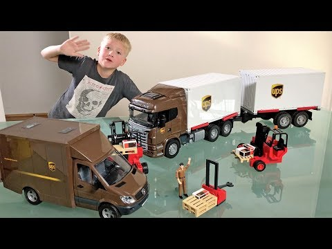 BRUDER UPS Container Trucks for CHILDREN