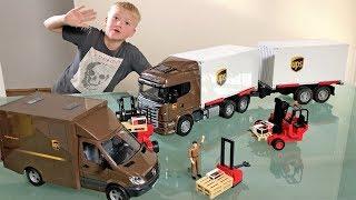 BRUDER toys UPS Container Trucks for CHILDREN!