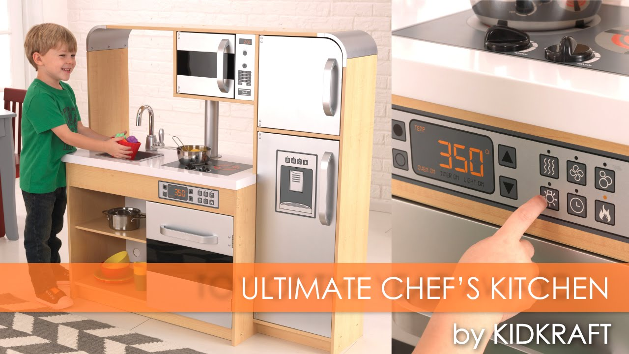 Childrenu0027s Ultimate Chefu0027s Play Kitchen   Toy Review   YouTube
