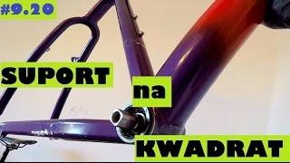 Serwisujemy rower - wykręcenie wkładu suportu na kwadrat. Shimano XT m730