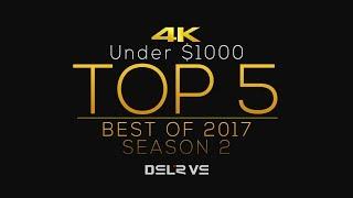 TOP 5 BEST 4K DSLR/M Cameras under 1000 in 2017