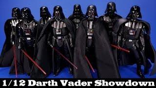 Star Wars Darth Vader 6-inch Showdown 1/12 Scale Hasbro, Bandai, MAFEX, Revoltech Comparison