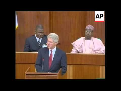 NIGERIA: US PRESIDENT CLINTON NATIONAL ASSEMBLY ADDRESS