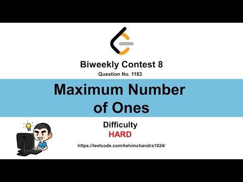 1183 Maximum Number Of Ones