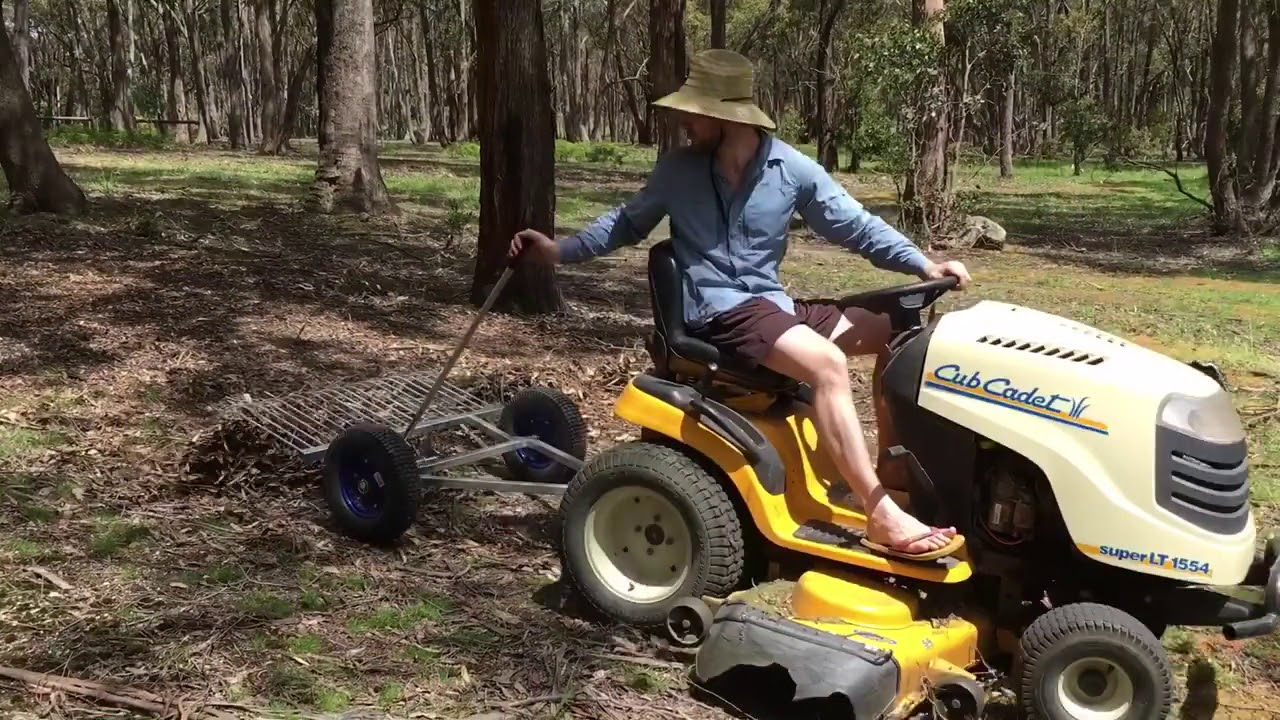 Stick Rake For Ride On Mower Or Atv