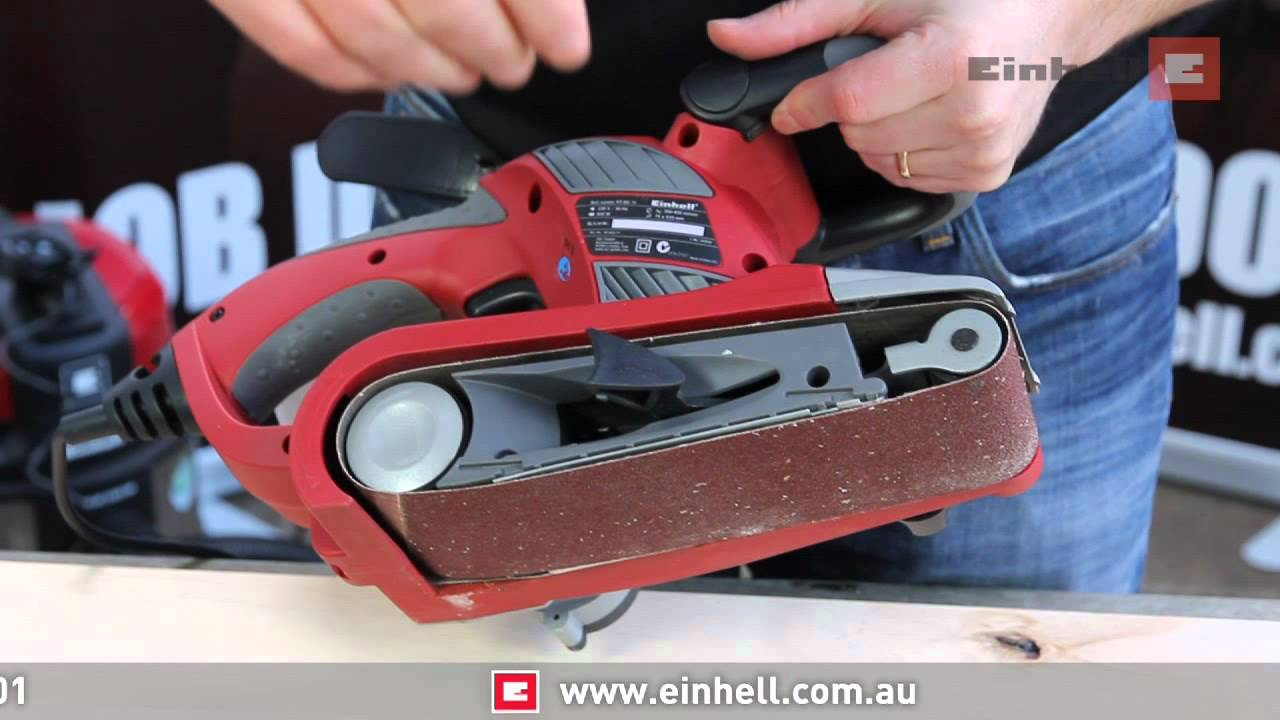 einhell belt sander viyoutube. Black Bedroom Furniture Sets. Home Design Ideas